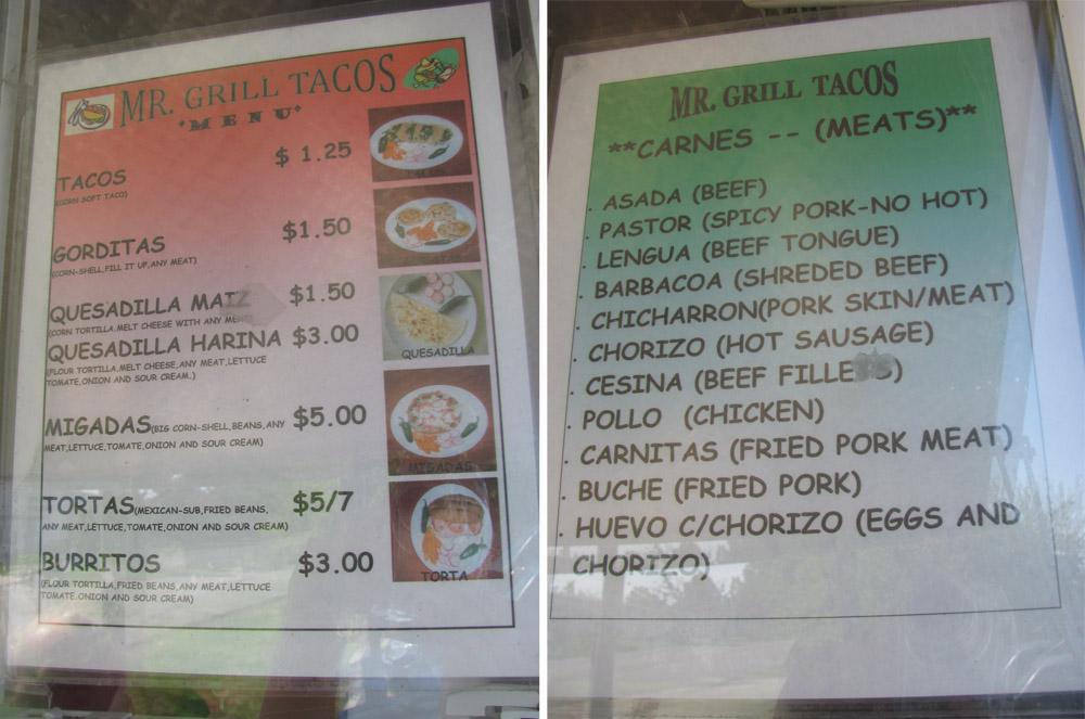 86 taco truck menu fish taco truck menu wabo u best for Mr fish menu