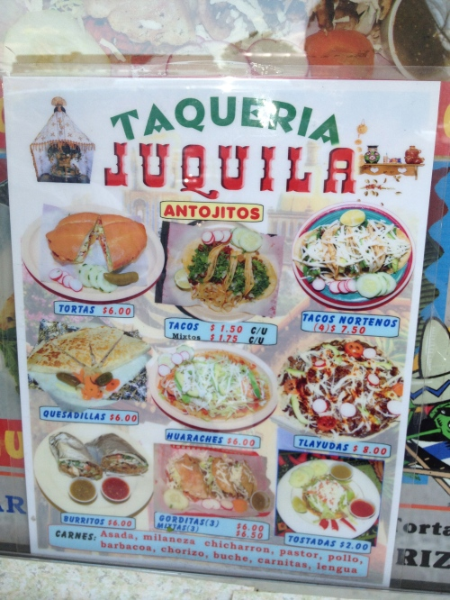 taco truck menu ohio