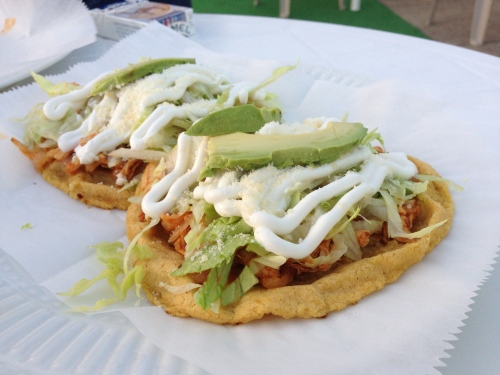 chicken tinga sopes